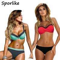 2017 Bikinis Women Summer Low Waist Swimwear Female Sexy Bench Swimsuit Bathing Suit Push Up Biquini