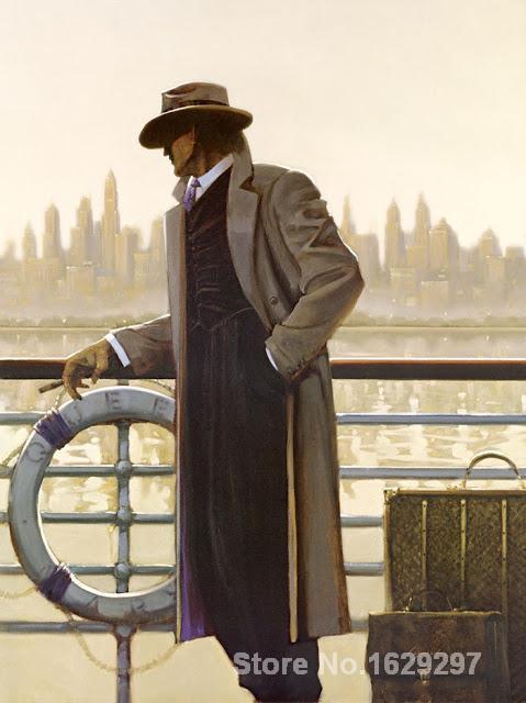 Современная живопись Аннотация Порты и разъёмы вызова и Pier Brent Линч высокое качество ручной росписью