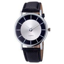 Женщины Мода Ретро Циферблат Кожа Аналоговый Кварцевые Наручные Часы Часы #3021 Бесплатная доставка