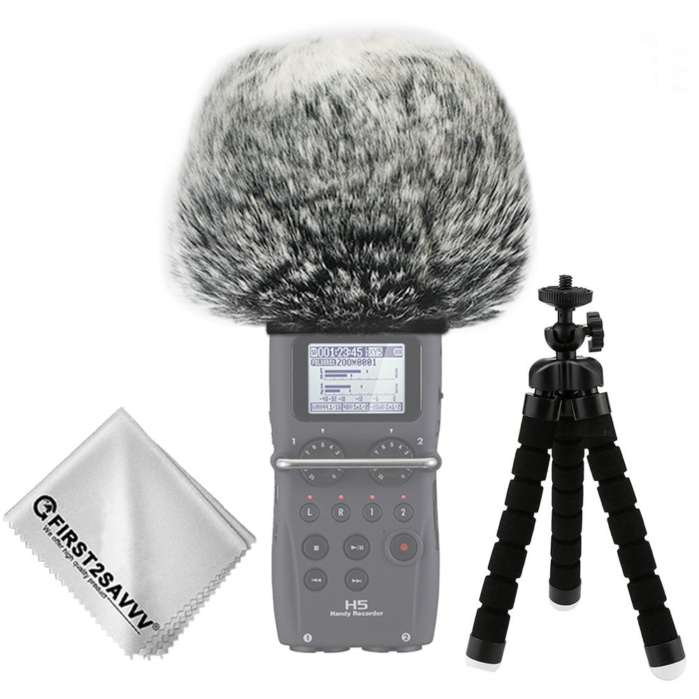 Outdoor Portable Digital Recorders Furry Microphone Mic Windscreen Wind Muff For ZOOM H5 ZOOM H6 ZOOM H5/H6 + Mini Tripod
