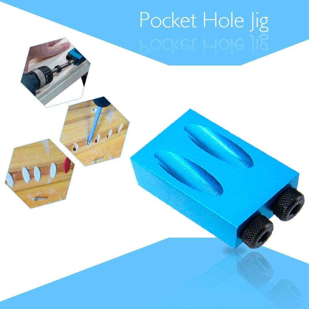Agujero de bolsillo Kit 6/8/10mm Drive adaptador para carpintería perforación ángulo agujeros guía herramientas de madera agujero DIY herramienta de trabajo conjunto