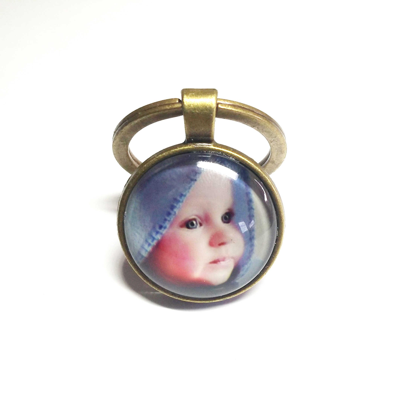 Personalização Double-sided foto da corrente chave chaveiro personalizado com foto do seu bebê criança família pai mãe avós como um presente presente