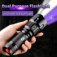 SHENYU Black Light Flashlight Ultraviolet Scorpion Torch 26650 Zoom Waterproof T6 2000LM 3 Mode Light For