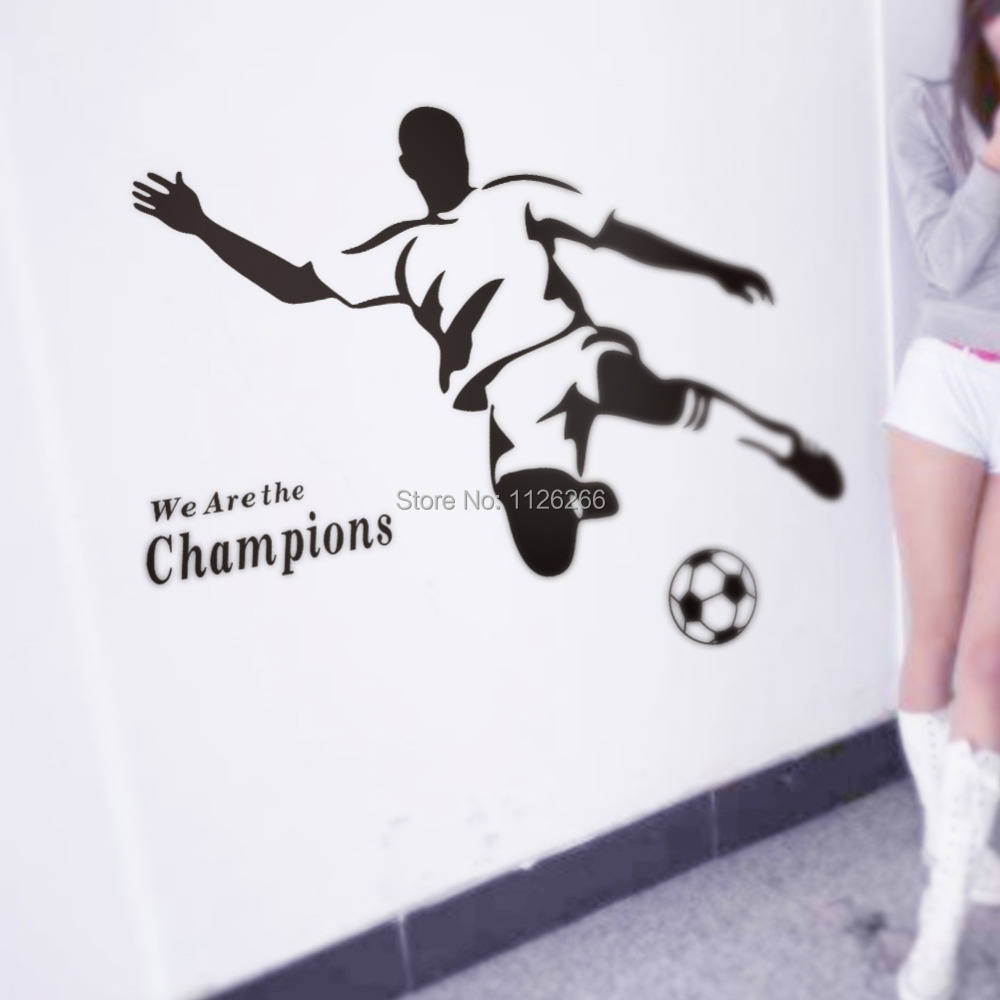 Soccer Wall Decor stickers for bmx bikes picture - more detailed picture about