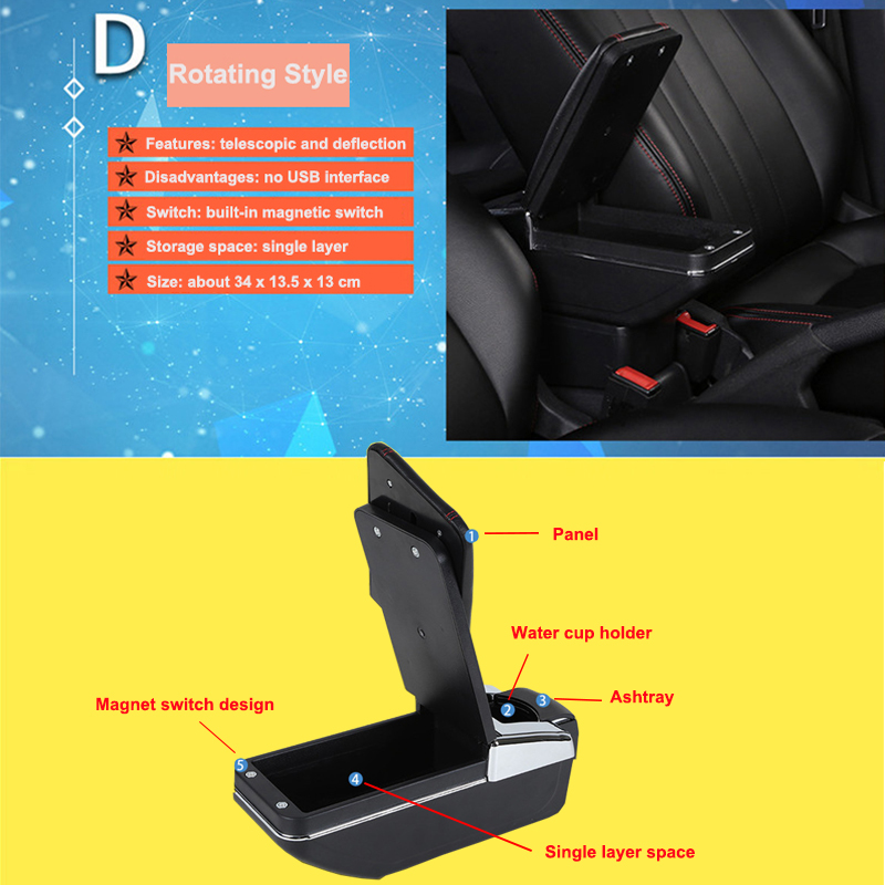 Car Armrest Box Central Store Content Storage Box Cup Holder Ashtray Interior Car Styling For Chevrolet Cruze 2009 2014 in Armrests from Automobiles Motorcycles