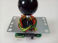 4pcs of Official original Sanwa JLF TP 8YT joystick with 5 Pin Wiring Harness for Arcade Game Machine accessories/Cabinet Parts