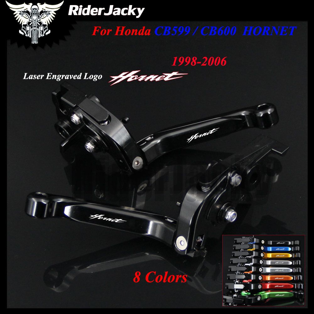 New Full Black CNC Motorcycle Accessories Adjustable Brake Clutch Levers For Honda CB599 / CB600 HORNET 1998-2006 2003 2004 2005 for yamaha bt1100 bulldog 2003 2004 motorcycle accessories cnc aluminum adjustable short brake clutch levers gold