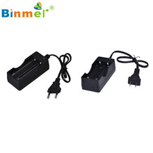2016 Hot Sale Black 2 Slots AC 110V 220V Dual Charger For 18650 3.7V Rechargeable Li-Ion Battery US EU Plug Adapter Charge Dec7#