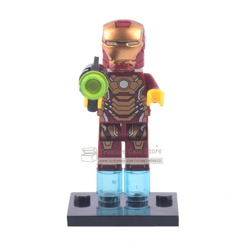 No.005 с принтом «Железный человек», индивидуальные фигура супергероя Конструкторы кубики