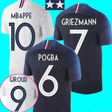 2 stars Francees soccer Jerseys Best Quality 2018 France MBAPPE GRIEZMANN  Casual men Football shirt( b4921105d