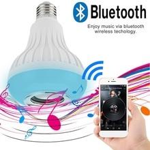 E27 Wireless Bluetooth Speaker RGB Bulb LED Lamp 110V 220V Smart Led Light Music Player Audio with Remote Controller 24 keys стоимость