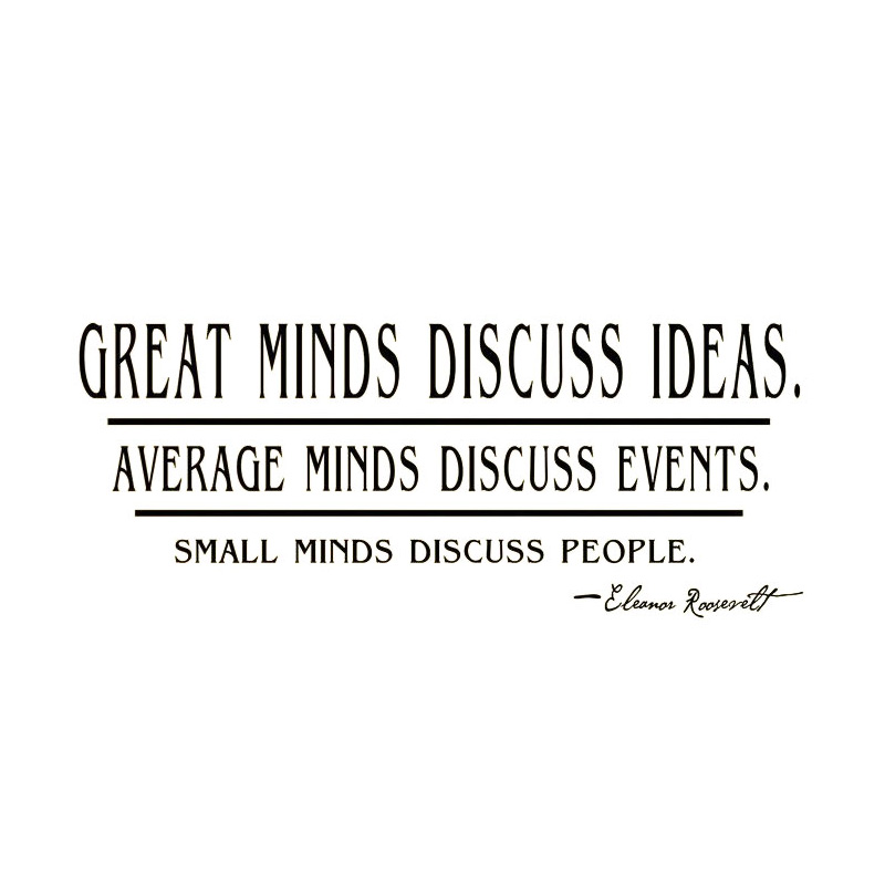cacar great minds discuss ideas quotes wall sticker text living room decorative wall decor home decor