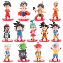 Nova Chegada Figura Dragon Ball Z Son Goku Bulma Gohan Goten Vegeta Trunks Brinquedo Pan Piccolo Chichi Anime Dbz Kuririn modelo de Brinquedo do Miúdo(China)