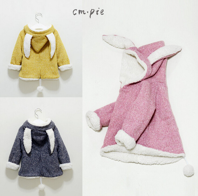 30bb7b271 YP13070553 Retail New 2015 Winter Fashion Girl Hoodies Cashmere Worm  Appliques Ears Kid Tops Animal Design