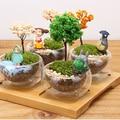 Totoro Tree Simulation Mini Pot Culture Resin Craft Landscape Home Garden Decoration DIY Showcase Microlandschaft Miniascape