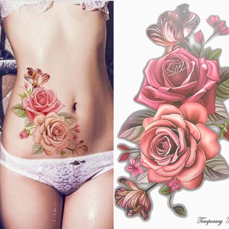 Beauty 1piece Fake temporary tattoo flowers