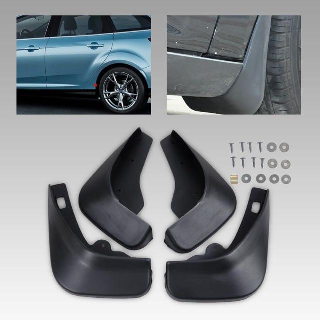 Dwcx 4x Car Auto Accessories Mud Flaps Splash Guards Mudguard For Ford Focus Hatchback Mk Ii 2005 2006 2007 2008 2009 2010 Black