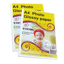 Free shipping A4  260g RC Glossy Photo Paper for inkjet printer 20 Sheet/bag