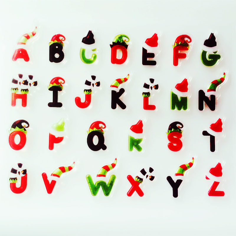 Christmas Alphabet.Us 2 4 40 Off Ylcs287 Christmas Alphabet Silicone Clear Stamps For Scrapbooking Diy Album Paper Cards Making Decoration Embossing Rubber Stamp In