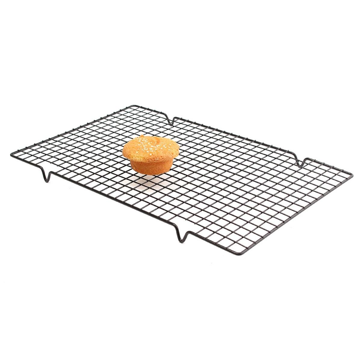 25x40CM Stainless Steel Cooling Rack Mesh Grid Baking Cookie Biscuit ...