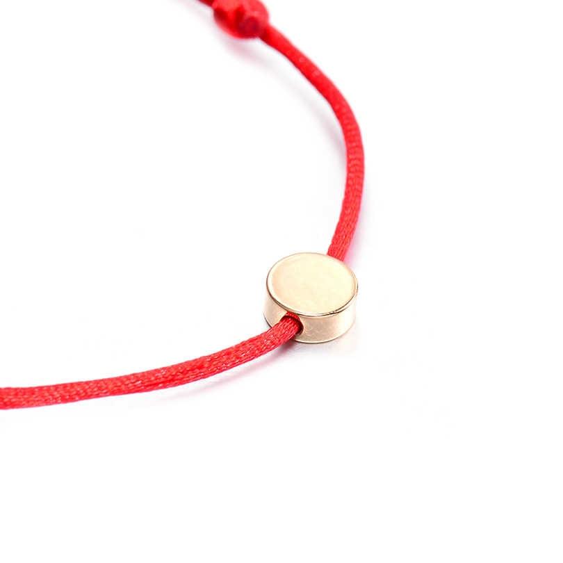 VEKNO 多色ロープ赤糸文字列のブレスレット編組メンズ · レディース調節可能なカップルマッチングブレスレットファム 2019