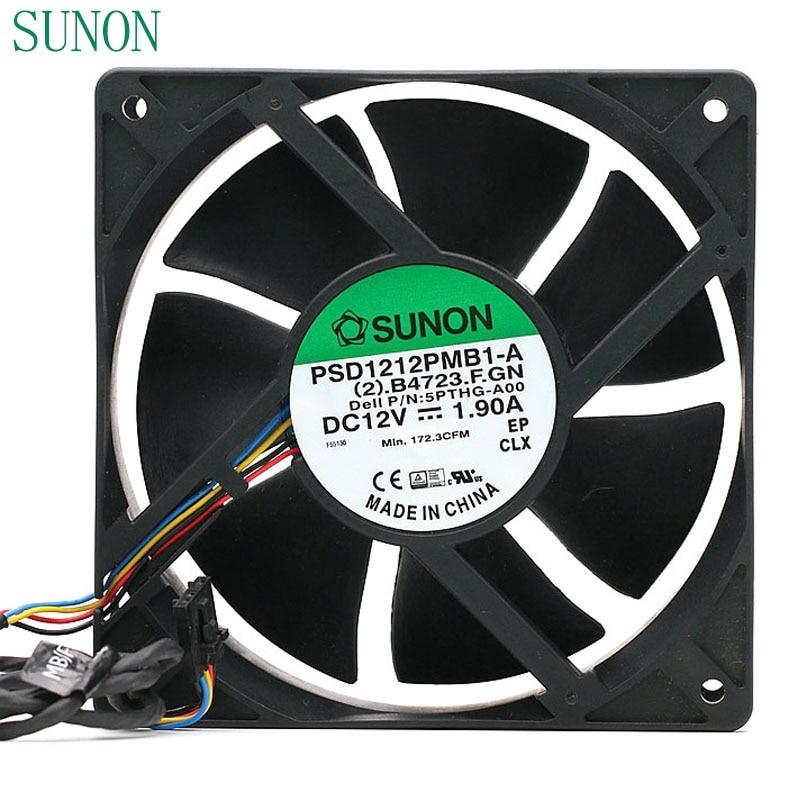 SUNON PSD1212PMB1-A (2) .B3010.F.GN 12V 15.5W 120*120*38mm industrial axial cooling fan 120mm sunon fan new cabinet cooling fan dp200a p n 2123xsl 220v axial fans 120 120 38mm