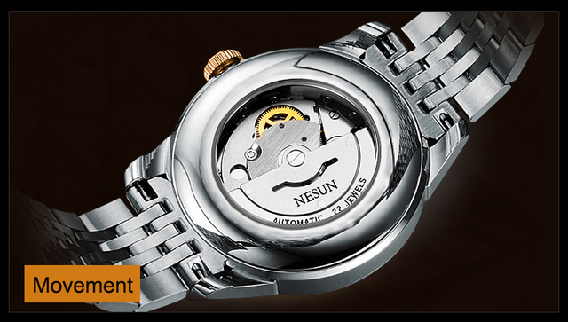 Nesun Men Watch Luxury Brand Auto Self-winding movement 5