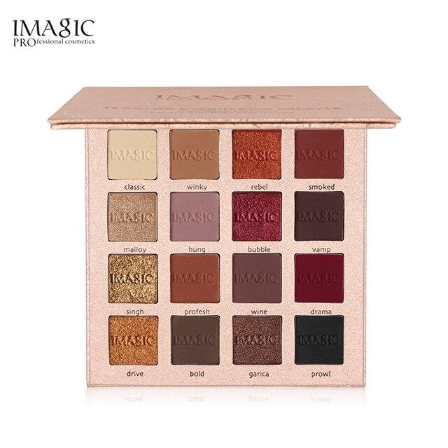 IMAGIC Nouvelle Arrivée Charme 16 Couleur Palette Make up Palette de Fard À Paupières Mat Shimmer Ombre À Paupières Pigmentées Poudre 4