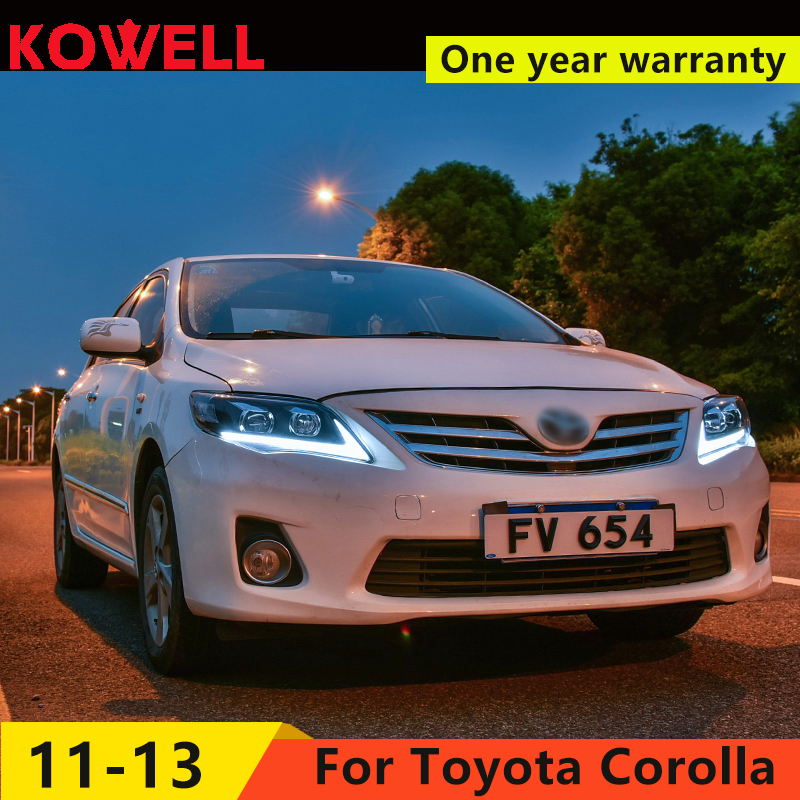 KOWELL Car Styling for Toyota Corolla Headlights 2011-2013 Altis LED Headlight DRL Bi Xenon Lens High Low Beam Parking Fog Lamp