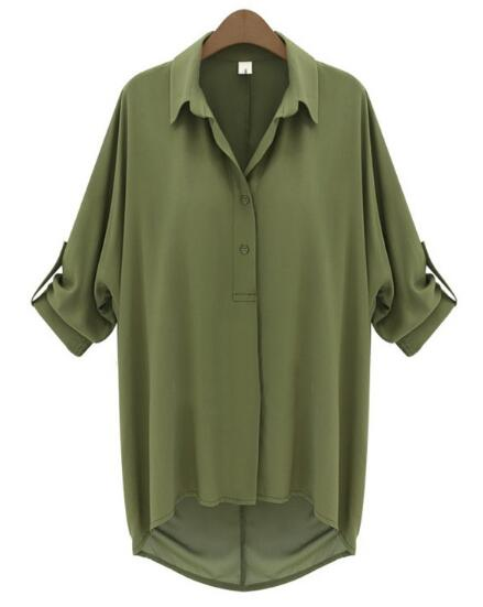 Online Get Cheap Womens Green Button up Shirt -Aliexpress.com ...