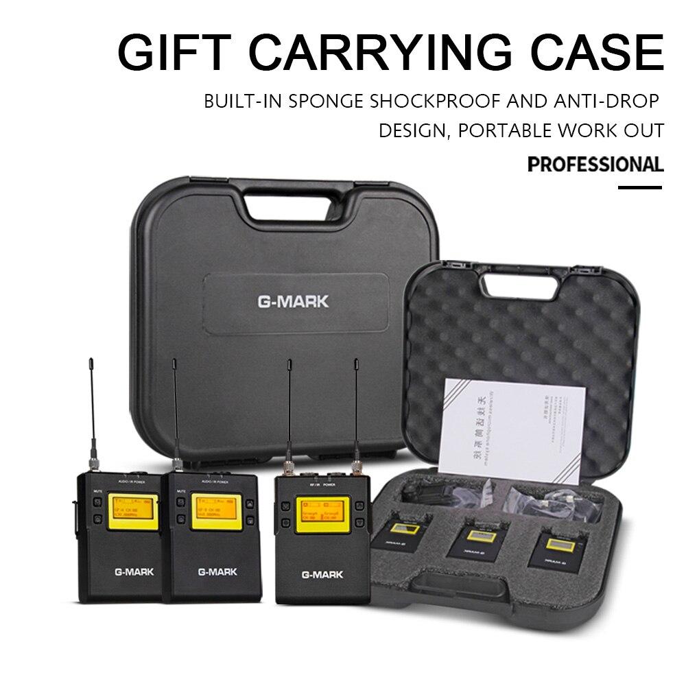 G-MARK G3 Профессиональный UHF беспроводной микрофон двойной Lavalier Mic приемник передача для камер Canon Nikon sony Osmo Pocket