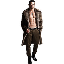 Men Fur Coat Winter 2017 Plus Size Faux Fur Coat Men Parka Jackets Full Length Leather Overcoats With Collar Fur coats rokediss 2017 new winter mens parka clothing men jacket coat with fur hood high quality jackets men plus size vestidos hot sale