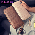Wallet Female New 2016 Fashion PU Leather Women Wallet 3 Fold Tassel Luxury Brand Casual Wallet Long Ladies Clutch Coin Purse