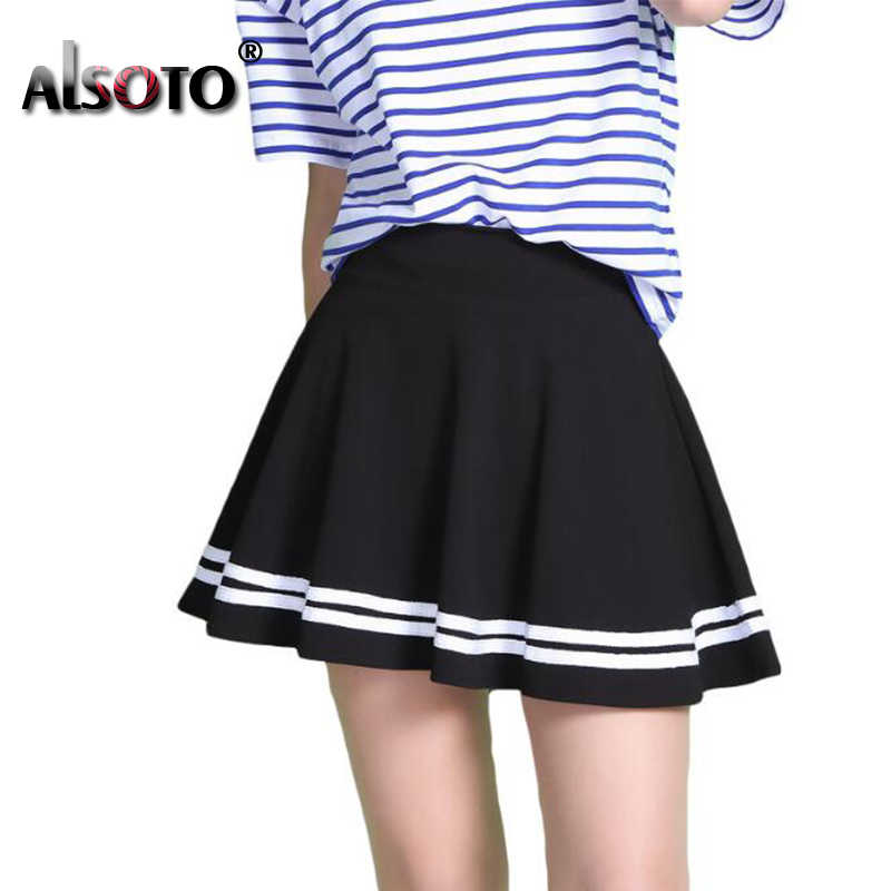 ALSOTO Fashion Summer Style Women Skirt Solid Color Sexy