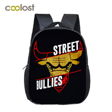 Cool Street Bullies Backpack For Teenage Boys Bull Splatter Bag Children School Bags Men Hipster Hip Hop Backpack Kids Best Gift