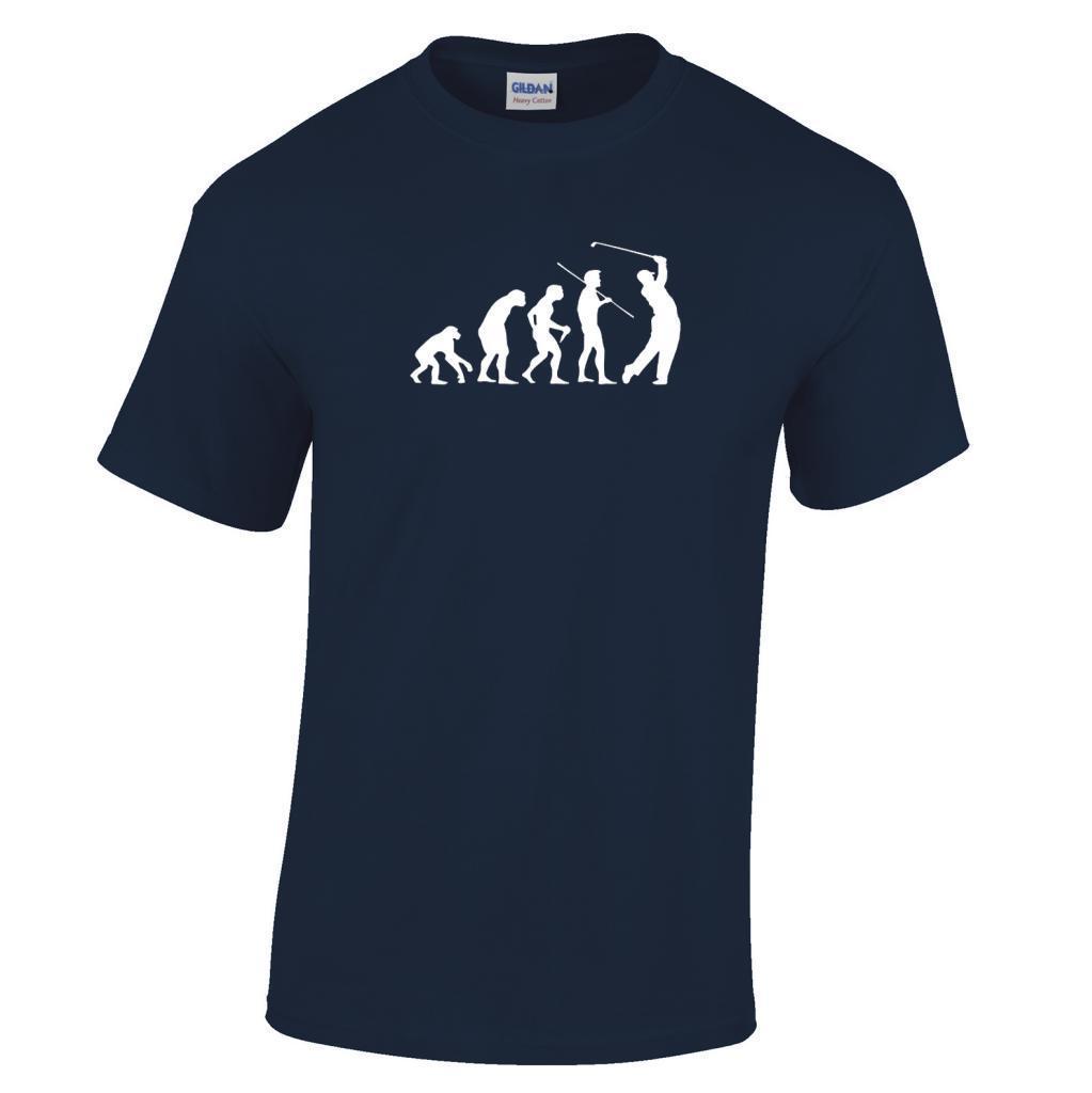 2017 Newest Men Cool Evolution Of A Golfer T Shirt Golfing Gift Funny Golfing Range Golfer Print Tops Men'S Fashion Tees