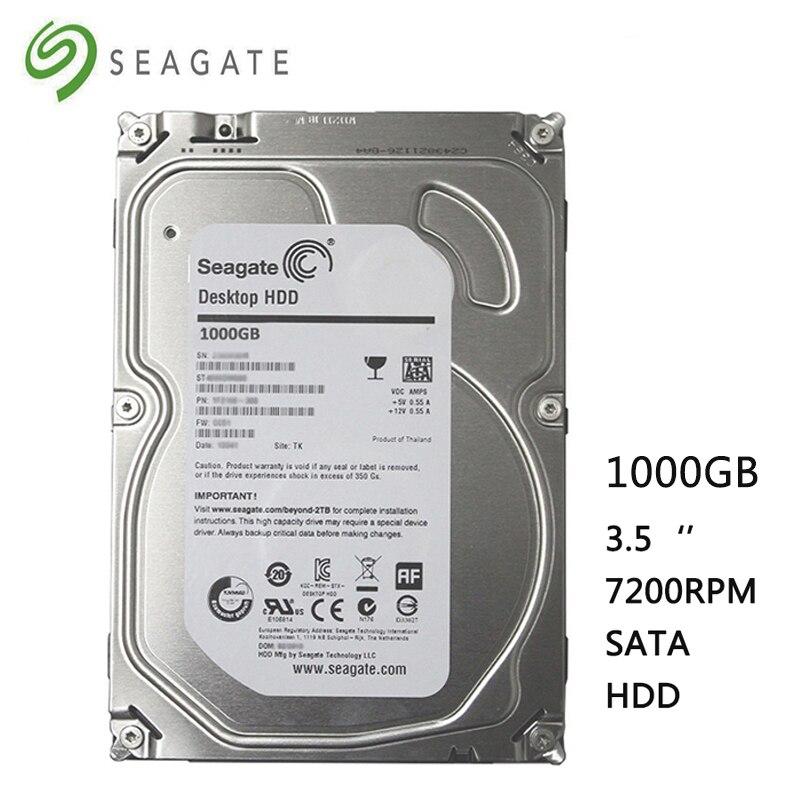 Seagate Brand 1000GB desktop computer 3 5 internal mechanical hard drive SATA 6Gb s 1TB 7200