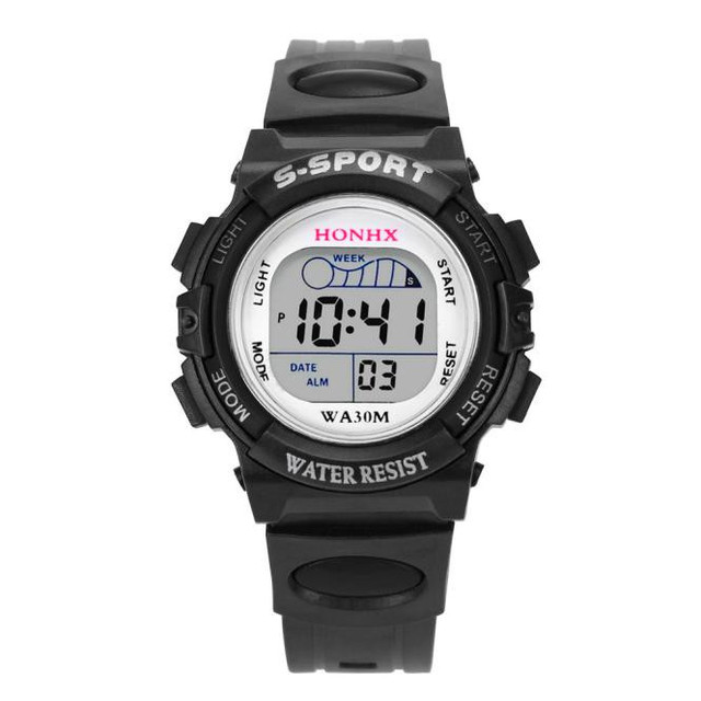 High Quality New Fashion Waterproof Children Boys Digital LED Sports Watch Kids