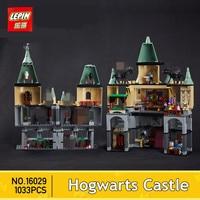 AUF LAGER Lepin 16029 1033 Stücke Film Serie Die magie hogwort castle set Kinder Educational Building Blocks Bricks Spielzeug Modell
