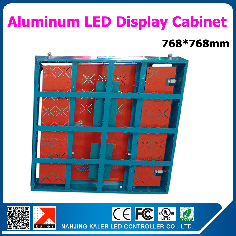 768*768mm Indoor Led Display Cabinet Aluminum Cabinet Good Heat Dispation Led Display Board For P6 Led Video Wall