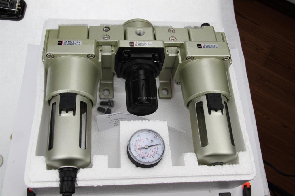 AC5000-06D 3/4'' BSPT SMC type Air Filter F.R.L unit AC series (AF5000-06D +AR5000+AL5000) Modual SNS water separator цена