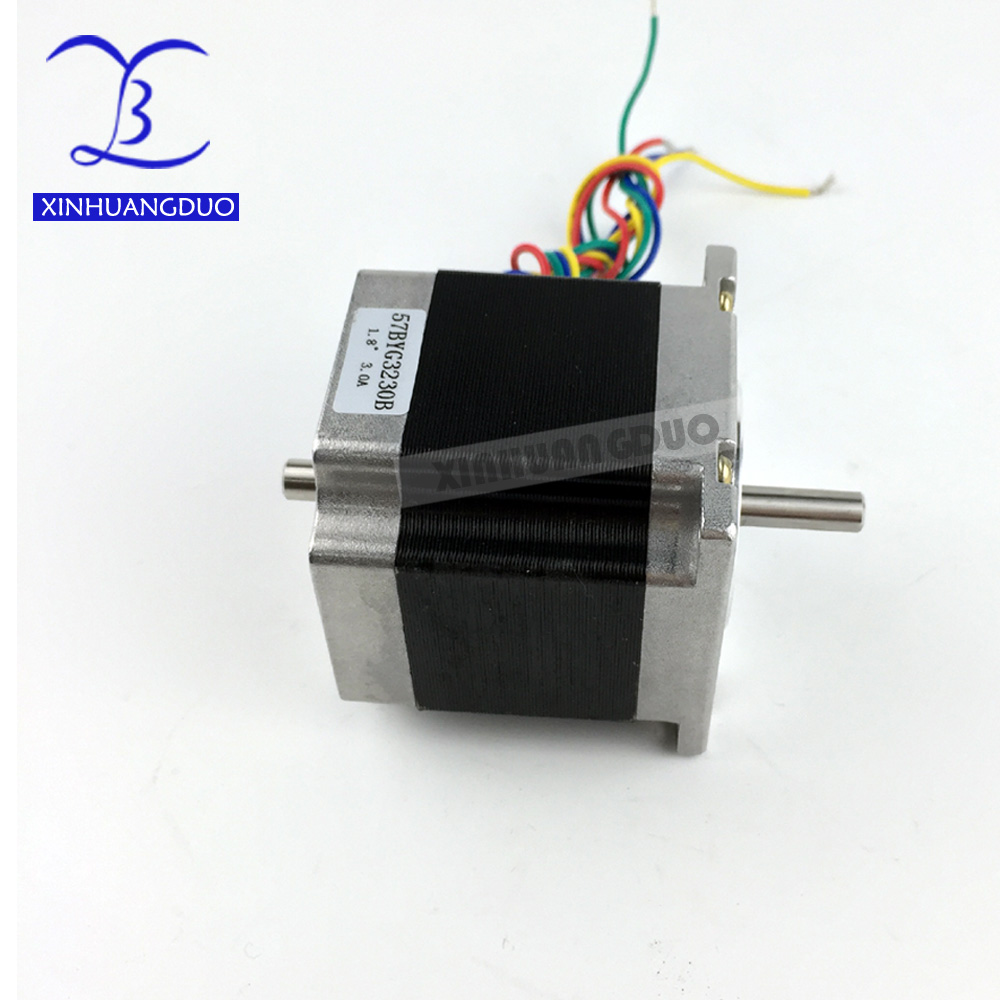 CNC Stepper motor Dual Shaft 57x56 NEMA 23 stepper motor 3A 1.26N.m double shaft stepping motor 180Oz-in For CNC machineCNC Stepper motor Dual Shaft 57x56 NEMA 23 stepper motor 3A 1.26N.m double shaft stepping motor 180Oz-in For CNC machine