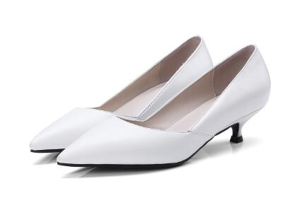 Black/white/gray solid pointed toe shallow low heel shoes for women Ladies work shoes Dress shoes Female thin heel pumps black smooth leather women pointed toe ankle buckle pumps deep v back ladies blade heel shoes spring fashion female dress shoes