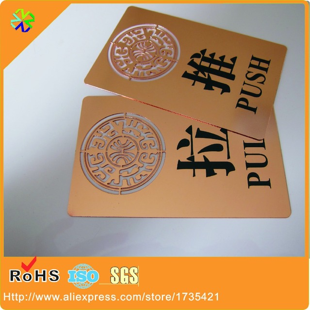 100pcslotcustom rose gold plated metal business cards in business 100pcslotcustom rose gold plated metal business cards colourmoves