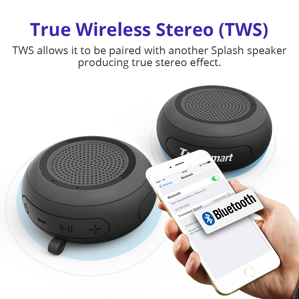 Tronsmart Element Splash Bluetooth Speaker IP67 Waterproof Soundbar Portable Outdoor Shockproof Wireless for Computer phone