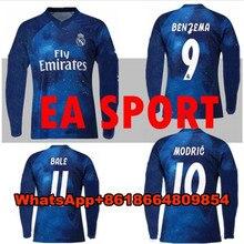 Camisa de manga larga de 2019 EA deportes Jersey Real Madrid camisa de manga  larga Juventus ISCO camiseta BALE BENZEMA y Cristia. 24ea0a21e9685
