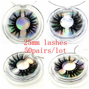Eyelashes 3D Free-Custom-Logo Handmade 50-Pairs Wholesale Cruelty Mikiwi