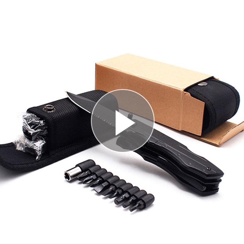 EDC Folding Pliers Multitool Pocket EDC Camping Outdoor Survival Hunting Screwdriver Kit Bits Knife Bottle Opener Hand Tools