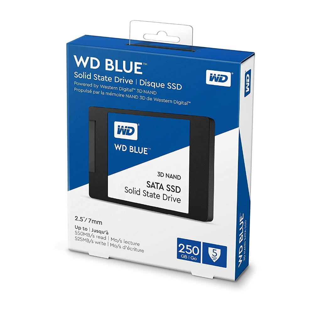 "WESTERN DIGITAL BLUE 3D NAND SSD 250GB Internal SATA3 2.5"" Hard Disk for Laptop NoteBook PC Ssd 500 GB Ssd Hard Drive"
