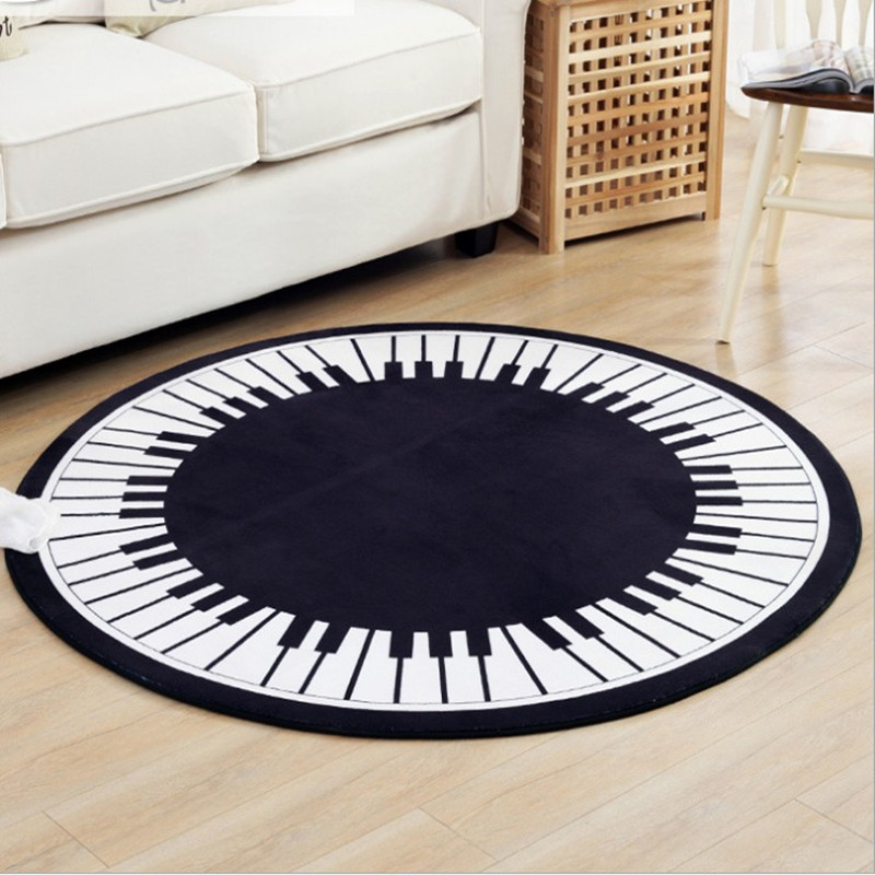 Creative Key Round Carpets For Living Room Home Area Rugs For Bedroom Cartoon Carpet Kids Room Computer Chair Floor Mat